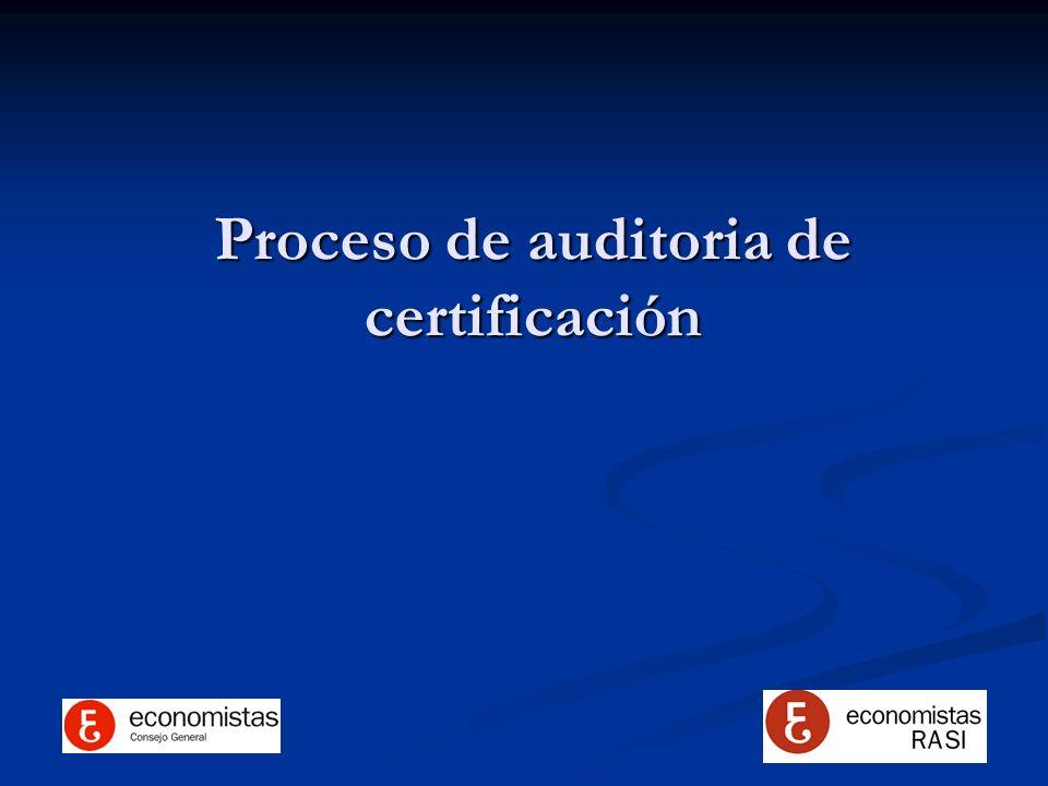 Proceso de auditoria de certificación