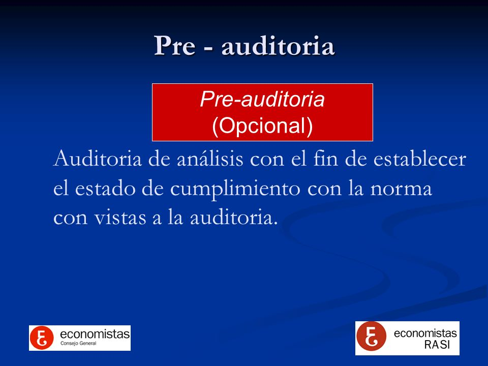 Pre-auditoria (Opcional)