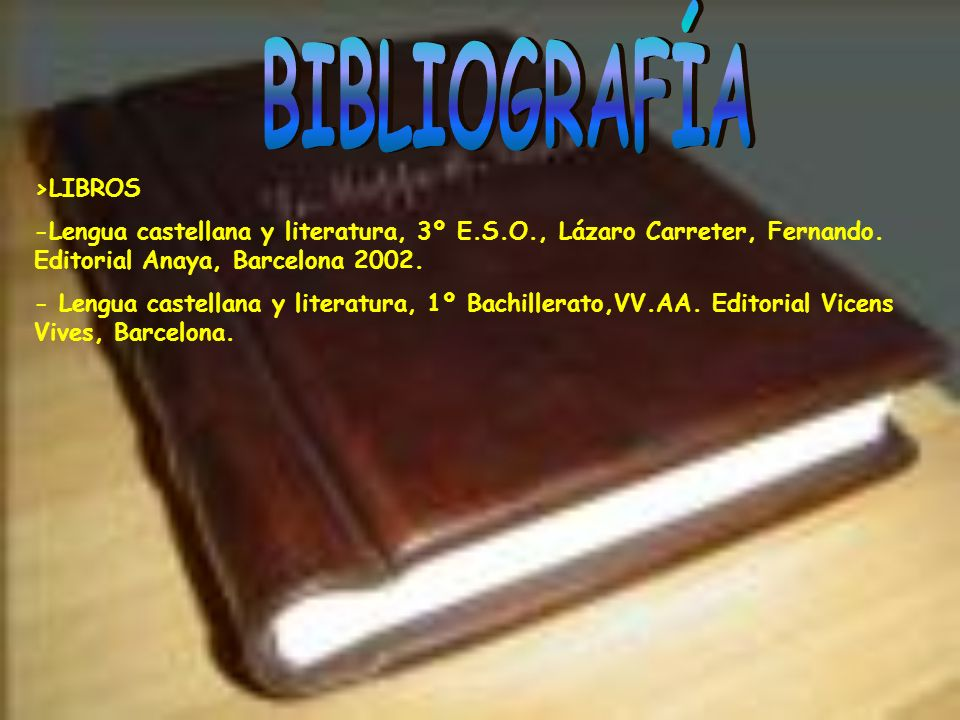 BIBLIOGRAFÍA >LIBROS