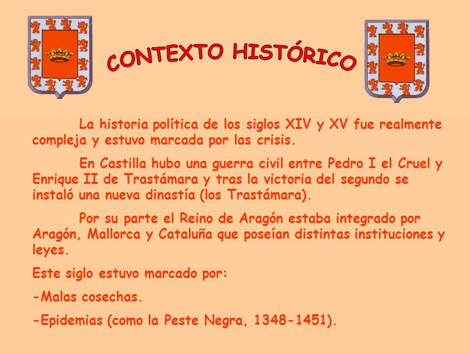 CONTEXTO HISTÓRICO La historia política de los siglos XIV y XV fue realmente compleja y estuvo marcada por las crisis.