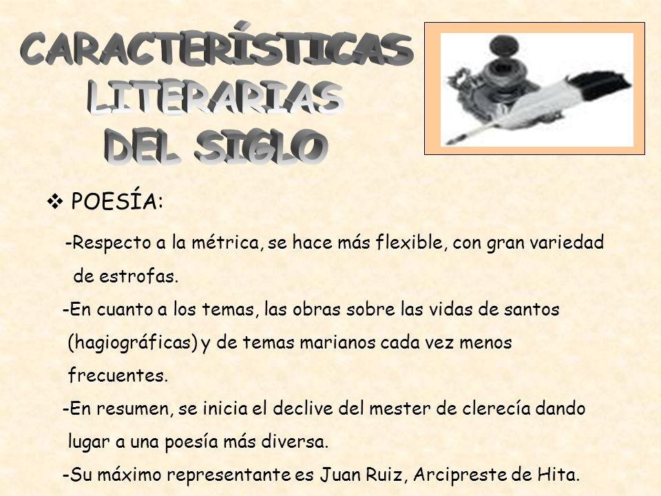 CARACTERÍSTICAS LITERARIAS DEL SIGLO