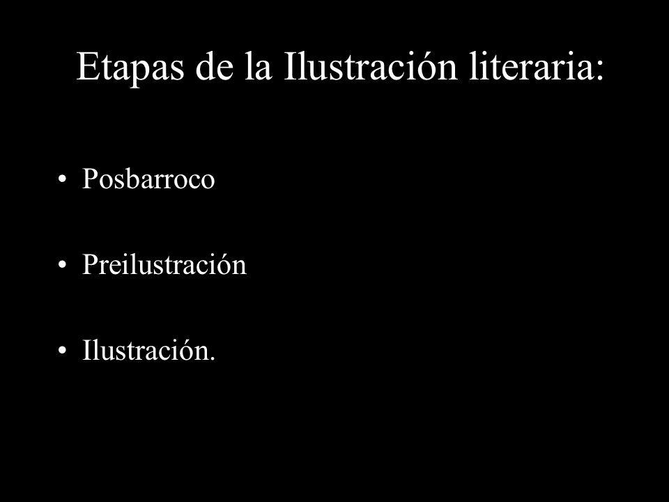 Etapas de la Ilustración literaria: