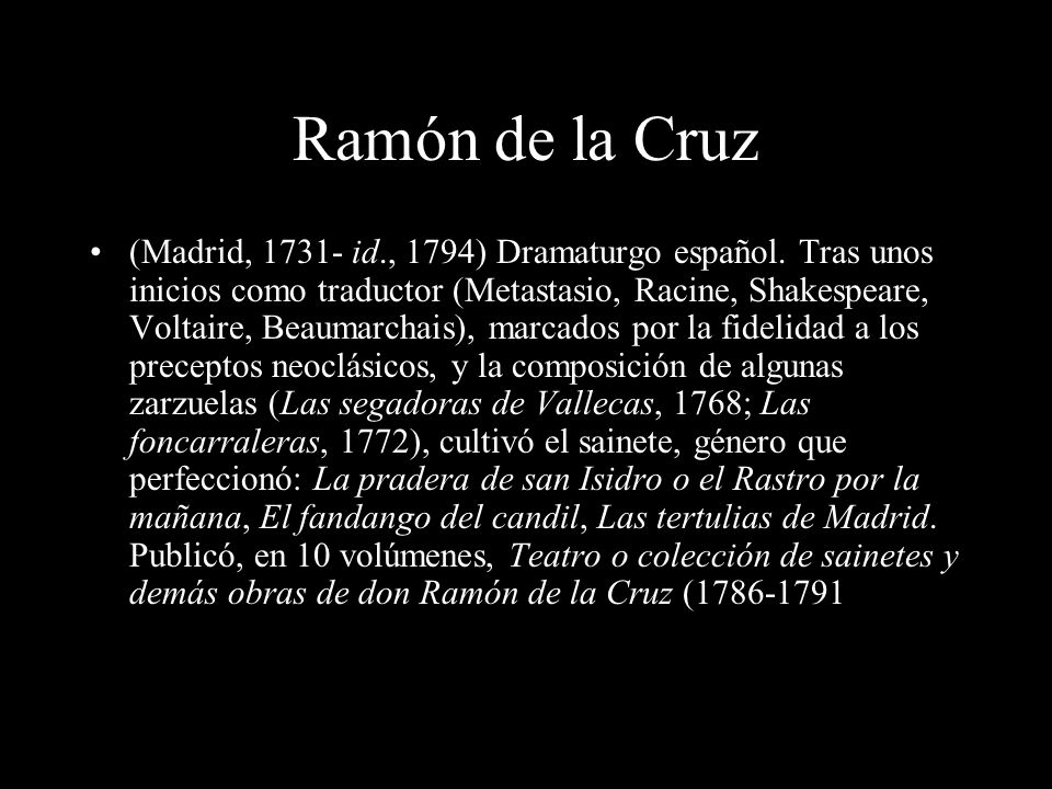 Ramón de la Cruz
