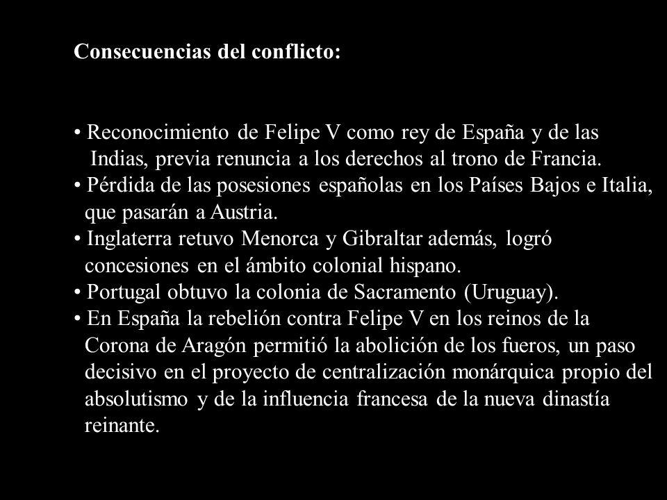 Consecuencias del conflicto:
