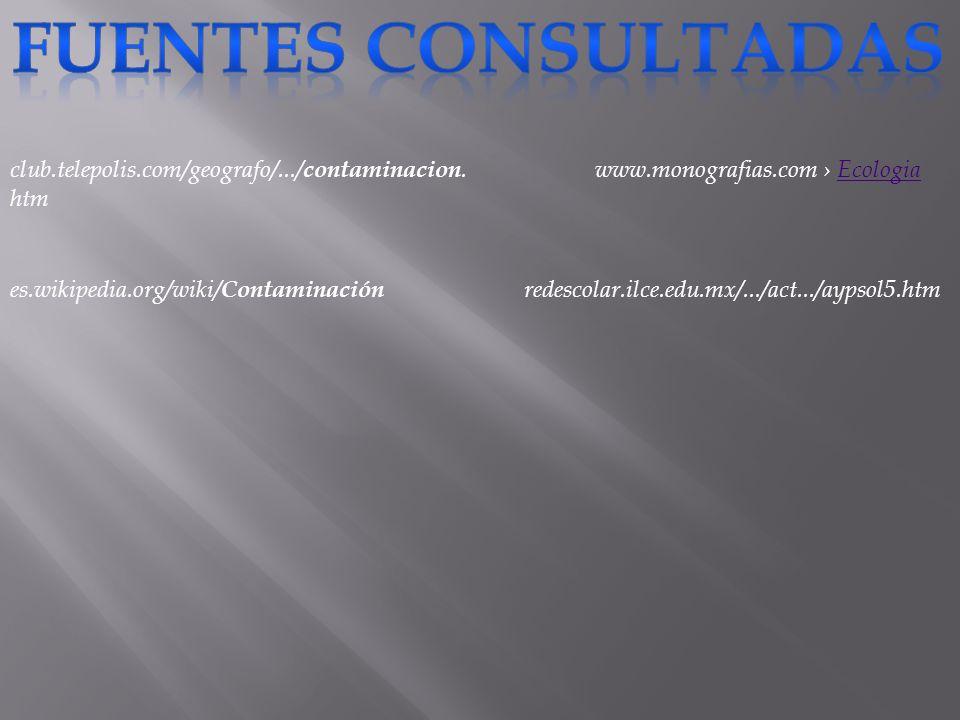 FUENTES CONSULTADAS club.telepolis.com/geografo/.../contaminacion.htm