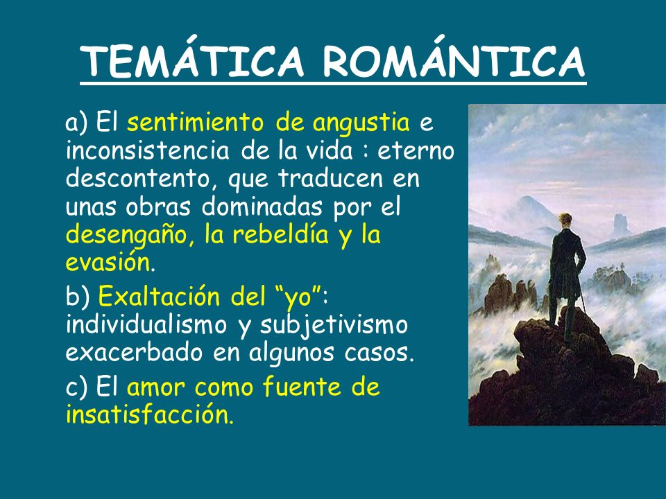 TEMÁTICA ROMÁNTICA
