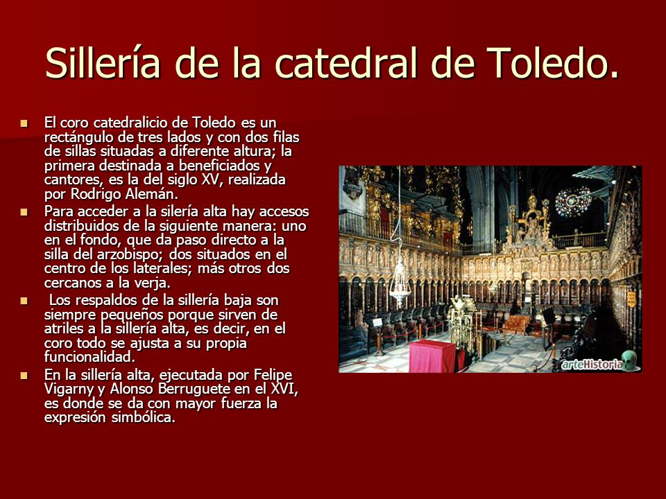 Sillería de la catedral de Toledo.