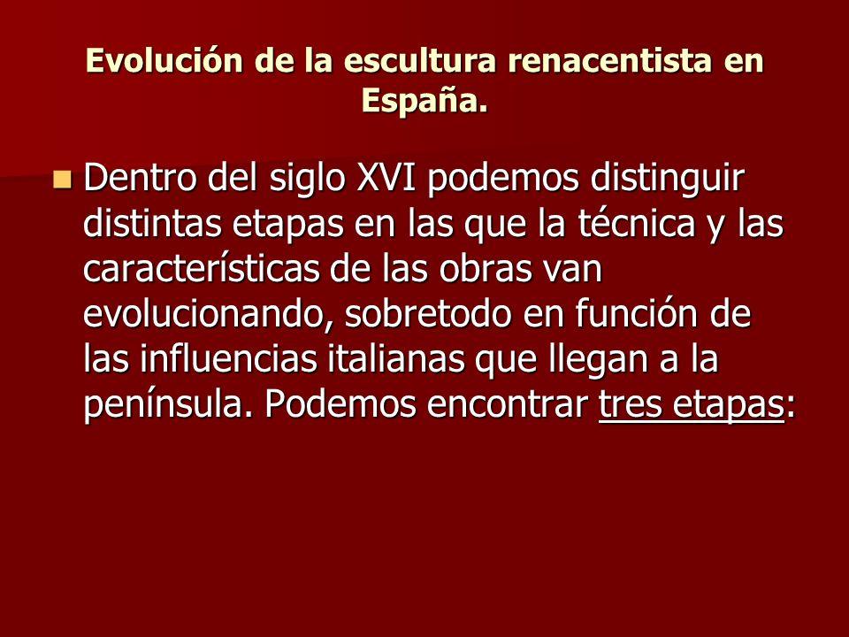 Evolución de la escultura renacentista en España.