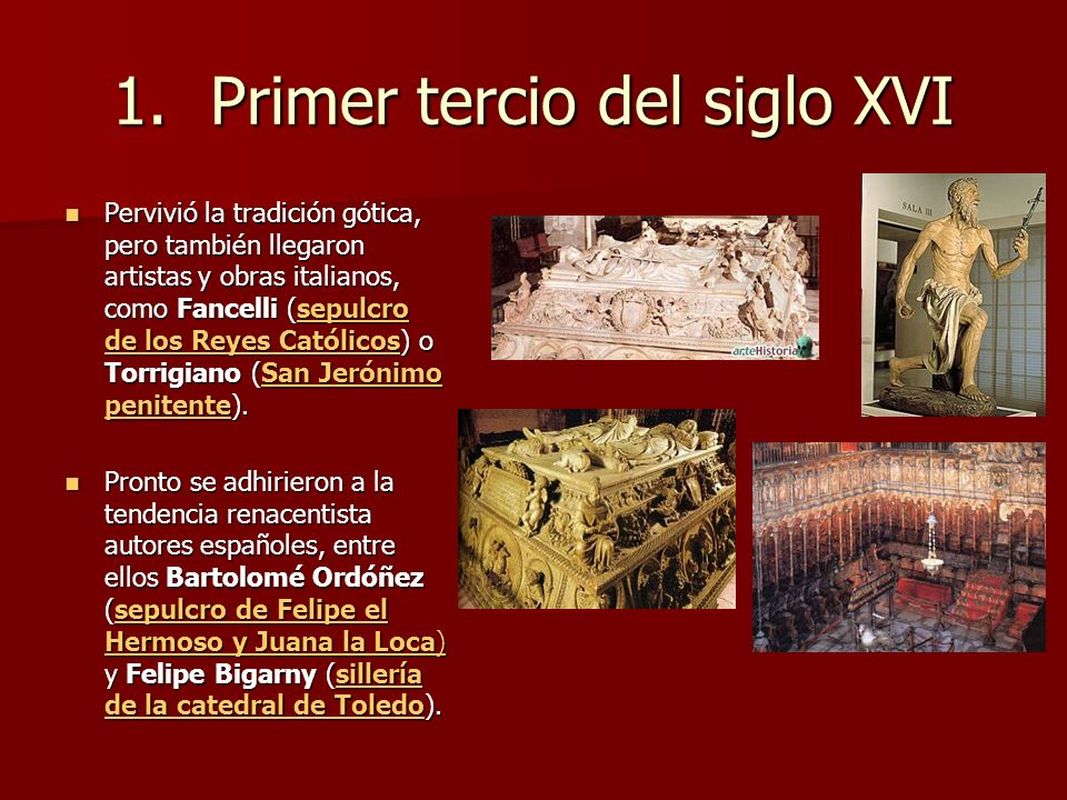 Primer tercio del siglo XVI