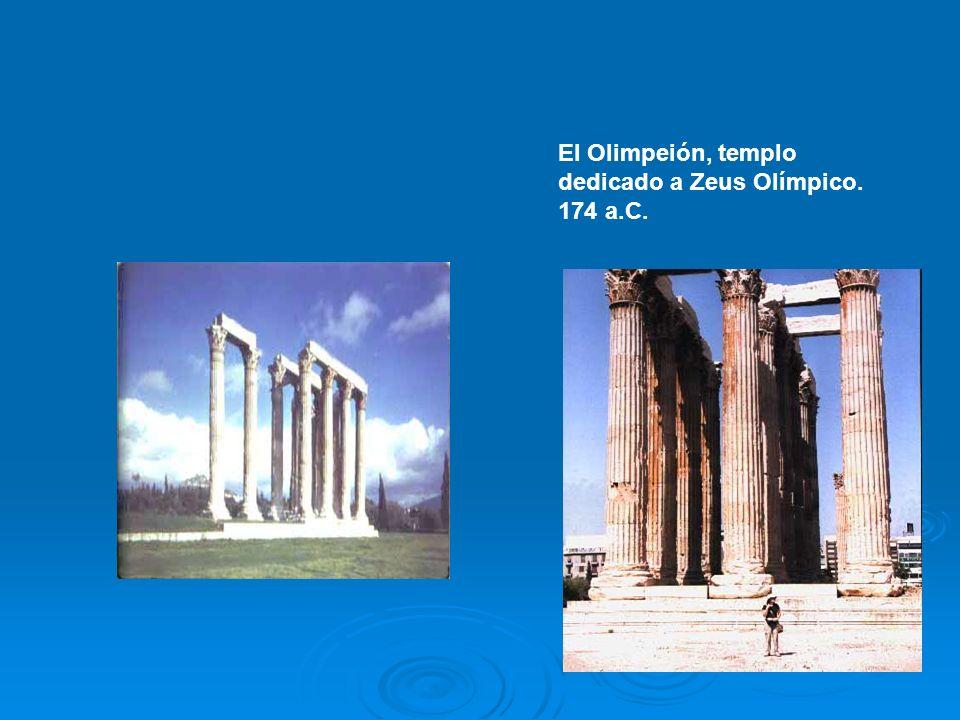 El Olimpeión, templo dedicado a Zeus Olímpico. 174 a.C.