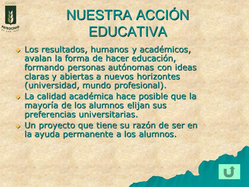 NUESTRA ACCIÓN EDUCATIVA