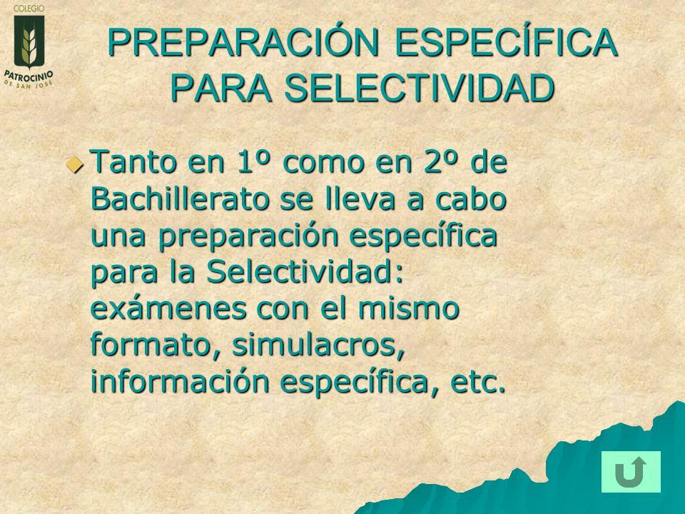 PREPARACIÓN ESPECÍFICA PARA SELECTIVIDAD