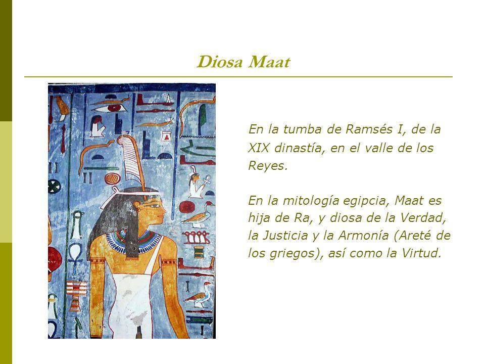 En la tumba de Ramsés I, de la