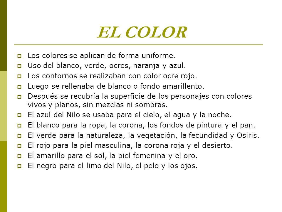 EL COLOR Los colores se aplican de forma uniforme.