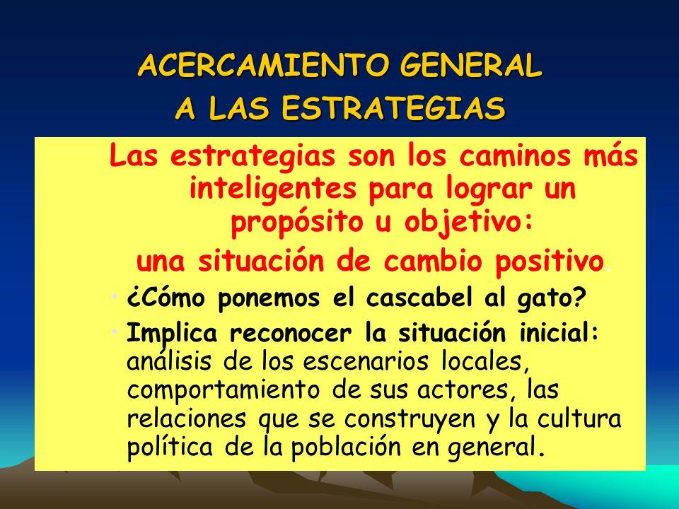 ACERCAMIENTO GENERAL A LAS ESTRATEGIAS