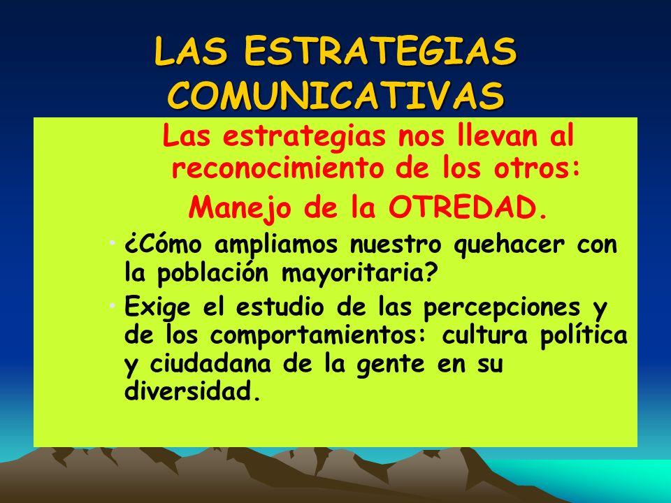 LAS ESTRATEGIAS COMUNICATIVAS
