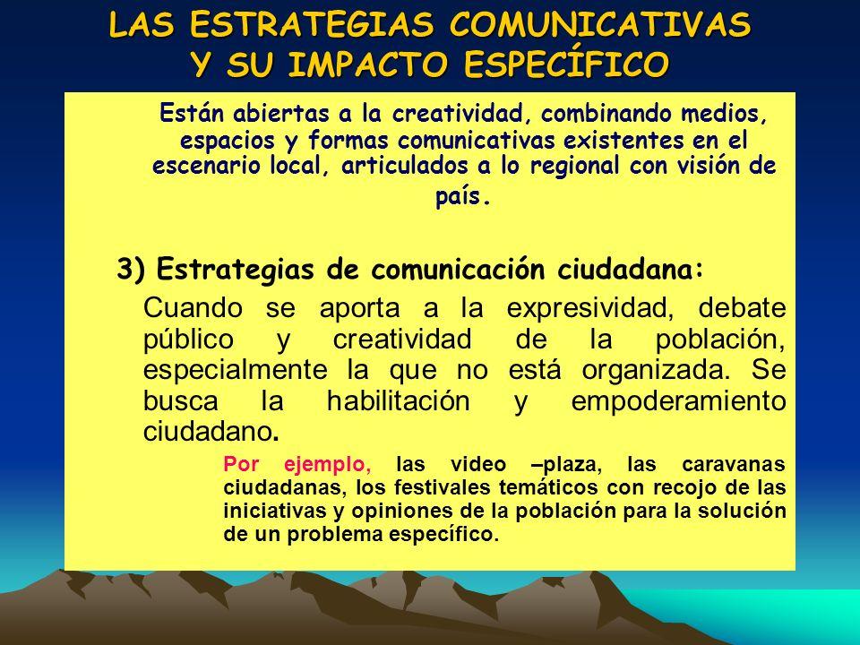 LAS ESTRATEGIAS COMUNICATIVAS Y SU IMPACTO ESPECÍFICO
