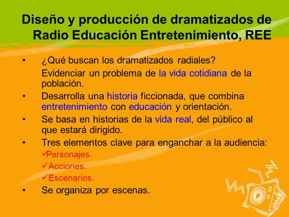 Diseño y producción de dramatizados de Radio Educación Entretenimiento, REE