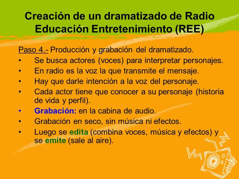 Creación de un dramatizado de Radio Educación Entretenimiento (REE)