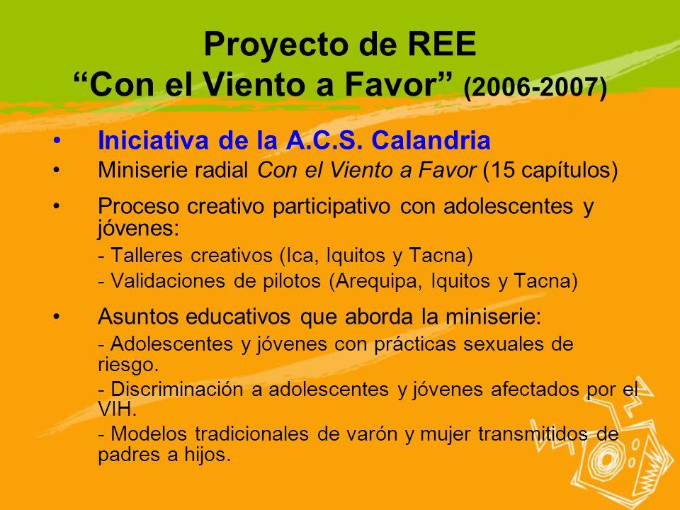 Proyecto de REE Con el Viento a Favor (2006-2007)