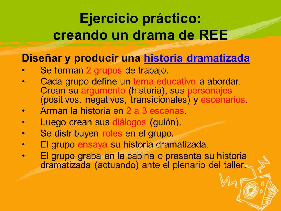 Ejercicio práctico: creando un drama de REE
