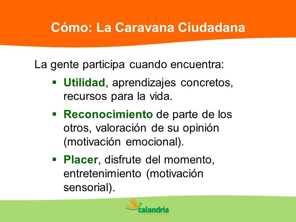 Cómo: La Caravana Ciudadana