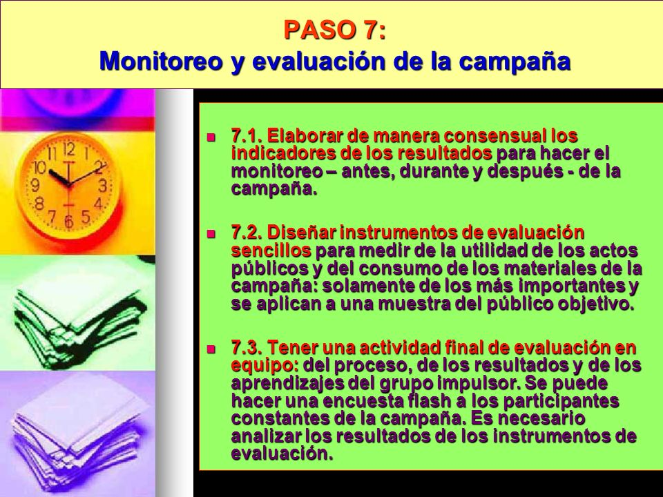 PASO 7: Monitoreo y evaluación de la campaña