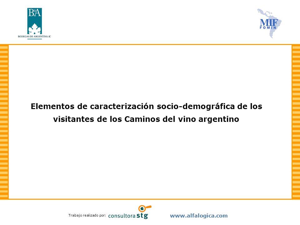 Elementos de caracterización socio-demográfica de los visitantes de los Caminos del vino argentino