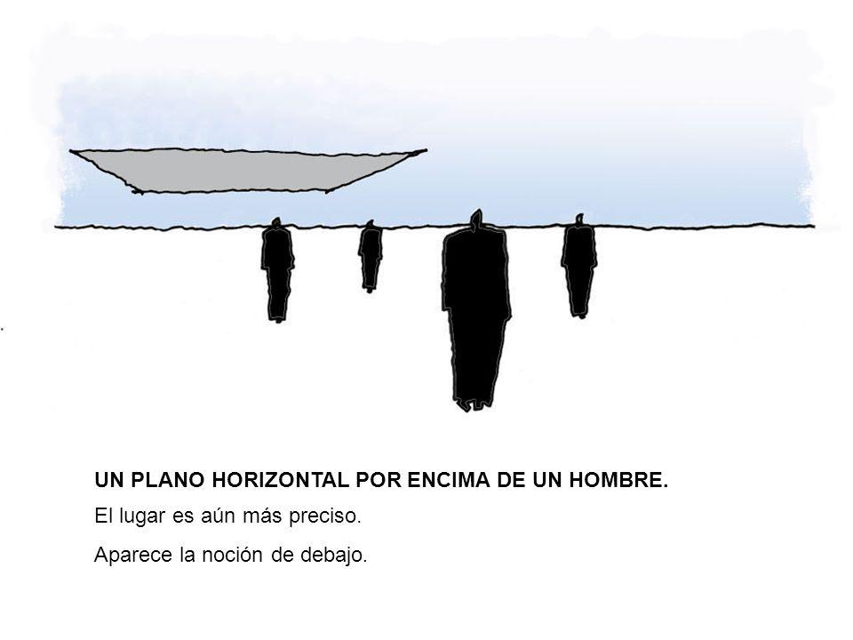 UN PLANO HORIZONTAL POR ENCIMA DE UN HOMBRE.