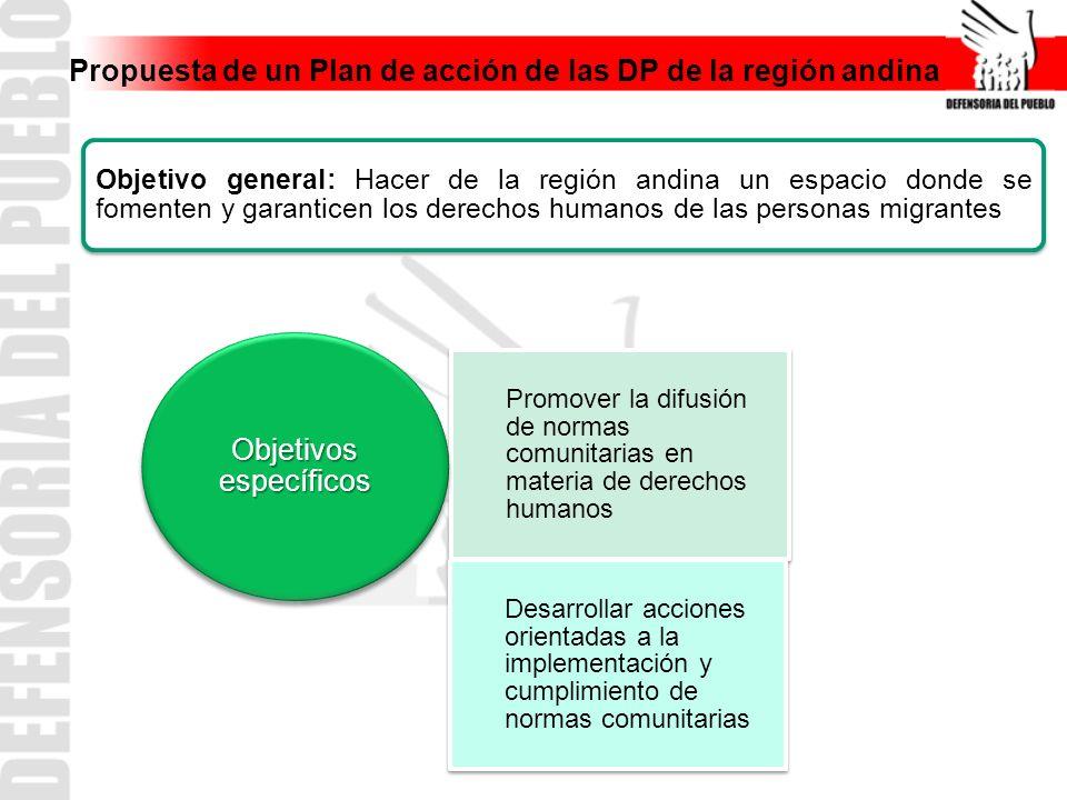 Propuesta de un Plan de acción de las DP de la región andina