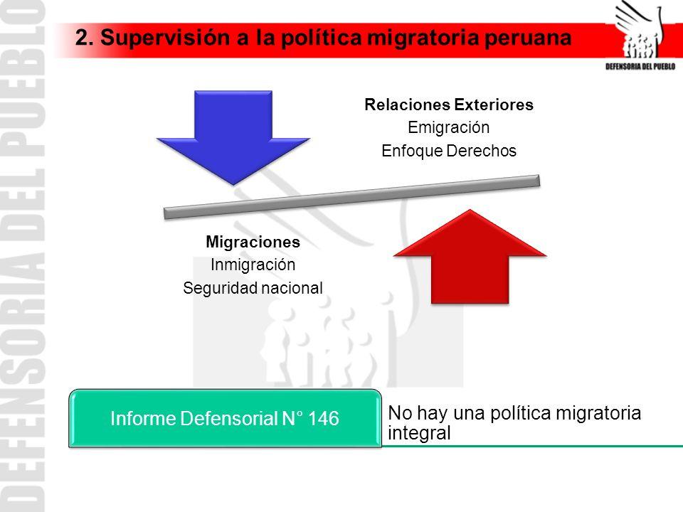 2. Supervisión a la política migratoria peruana