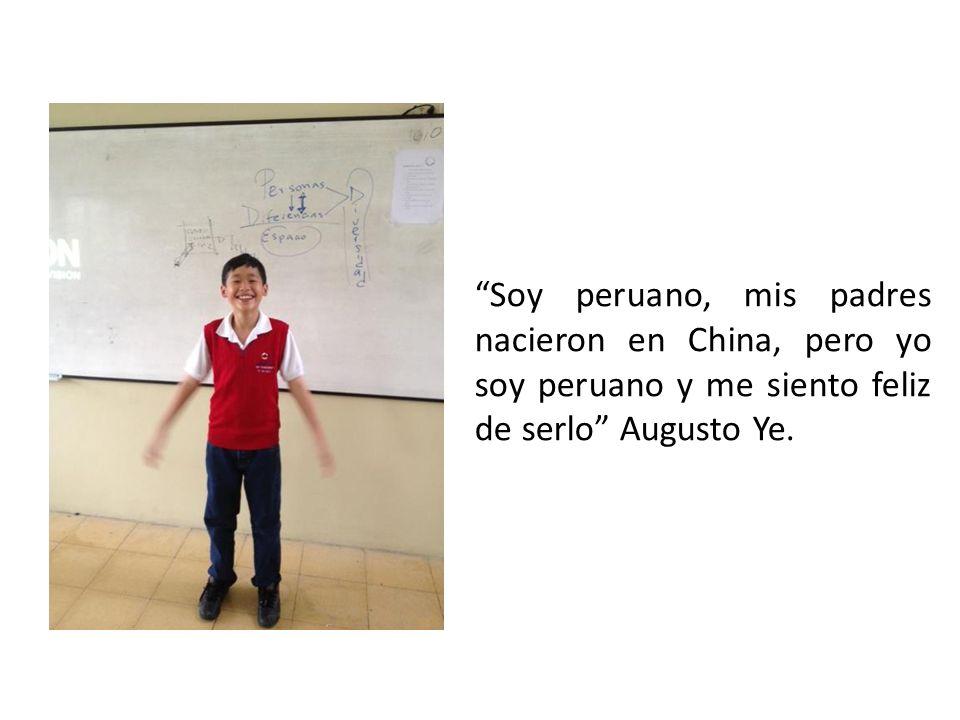 Soy peruano, mis padres nacieron en China, pero yo soy peruano y me siento feliz de serlo Augusto Ye.