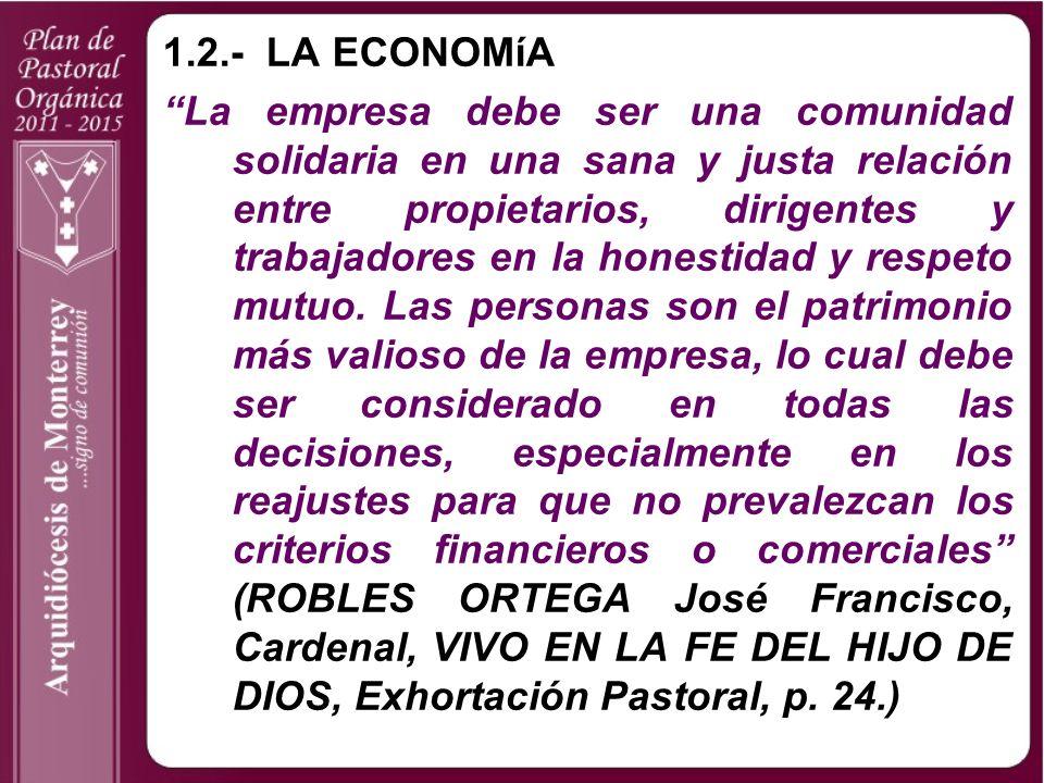 1.2.- LA ECONOMíA