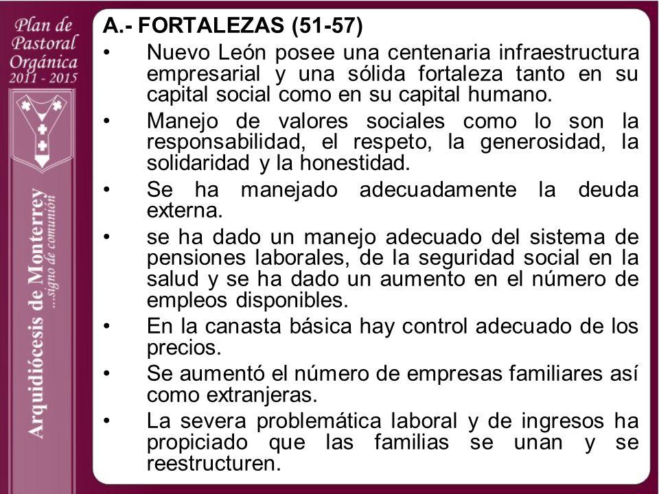 A.- FORTALEZAS (51-57)
