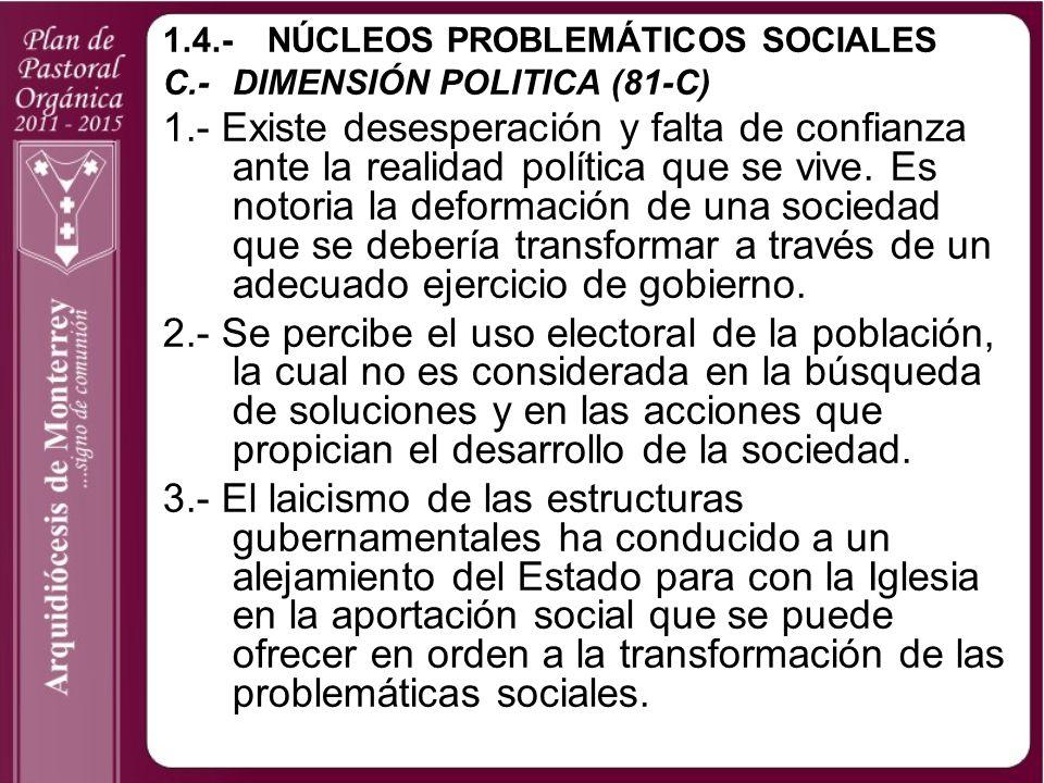 1.4.- NÚCLEOS PROBLEMÁTICOS SOCIALES