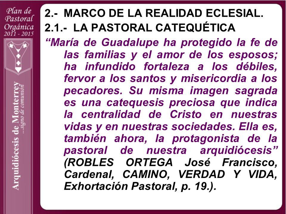 2.- MARCO DE LA REALIDAD ECLESIAL.