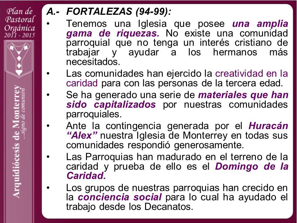 A.- FORTALEZAS (94-99):
