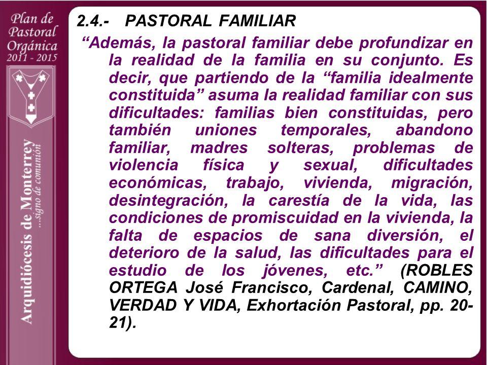 2.4.- PASTORAL FAMILIAR