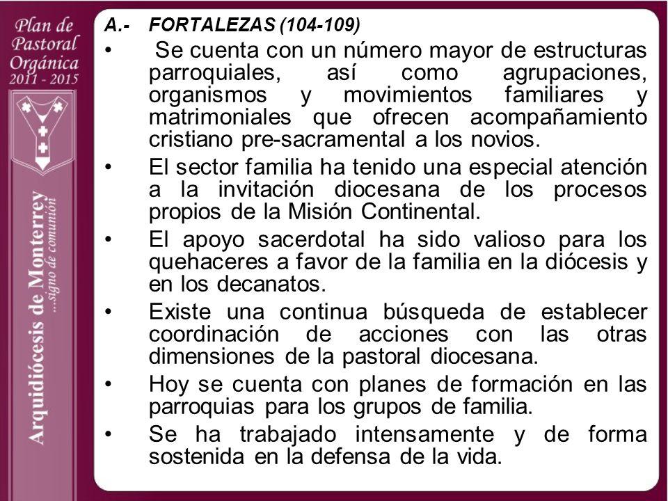 A.- FORTALEZAS (104-109)