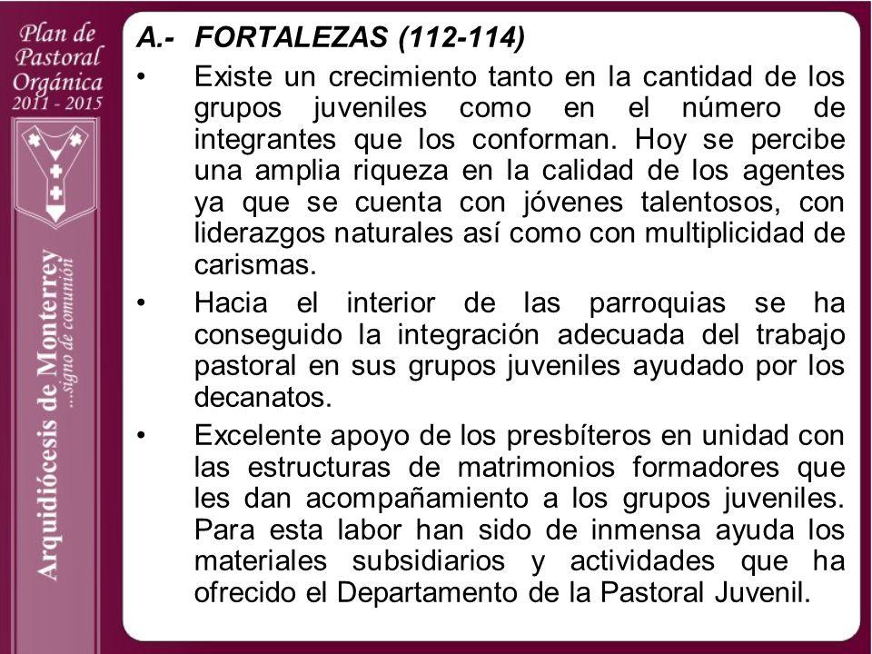 A.- FORTALEZAS (112-114)