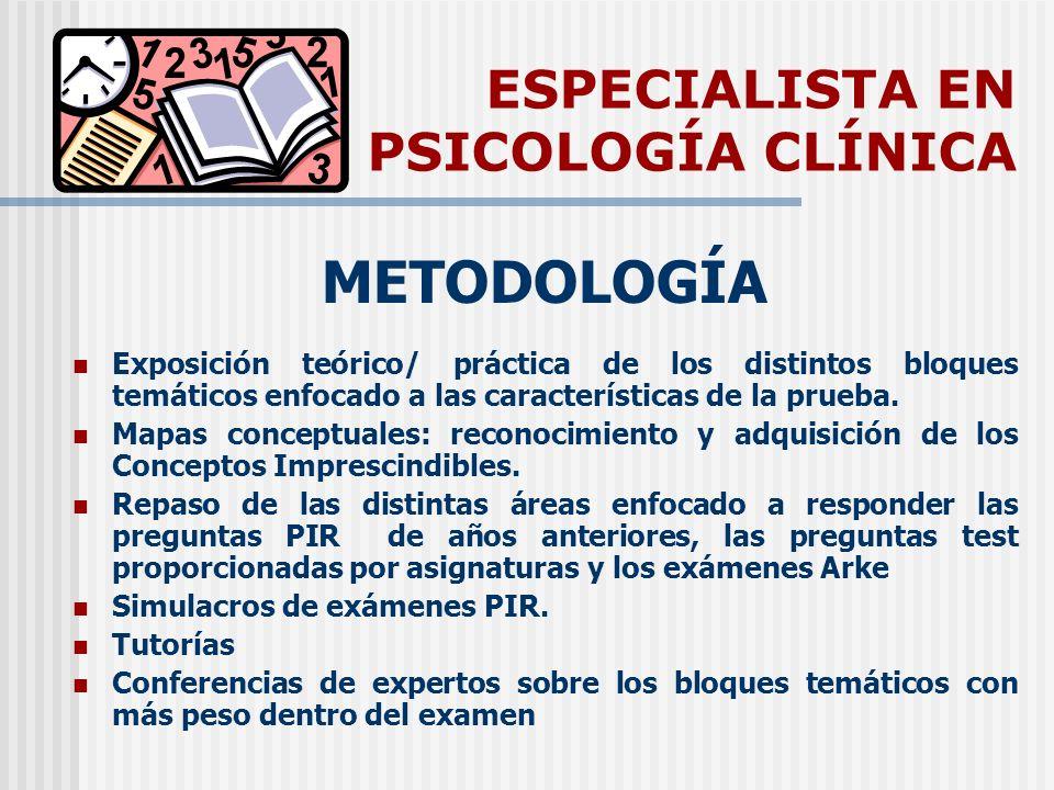 ESPECIALISTA EN PSICOLOGÍA CLÍNICA