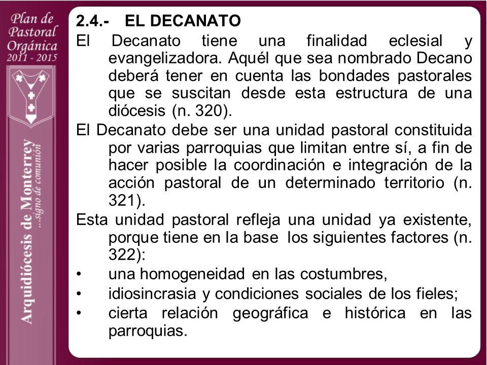2.4.- EL DECANATO