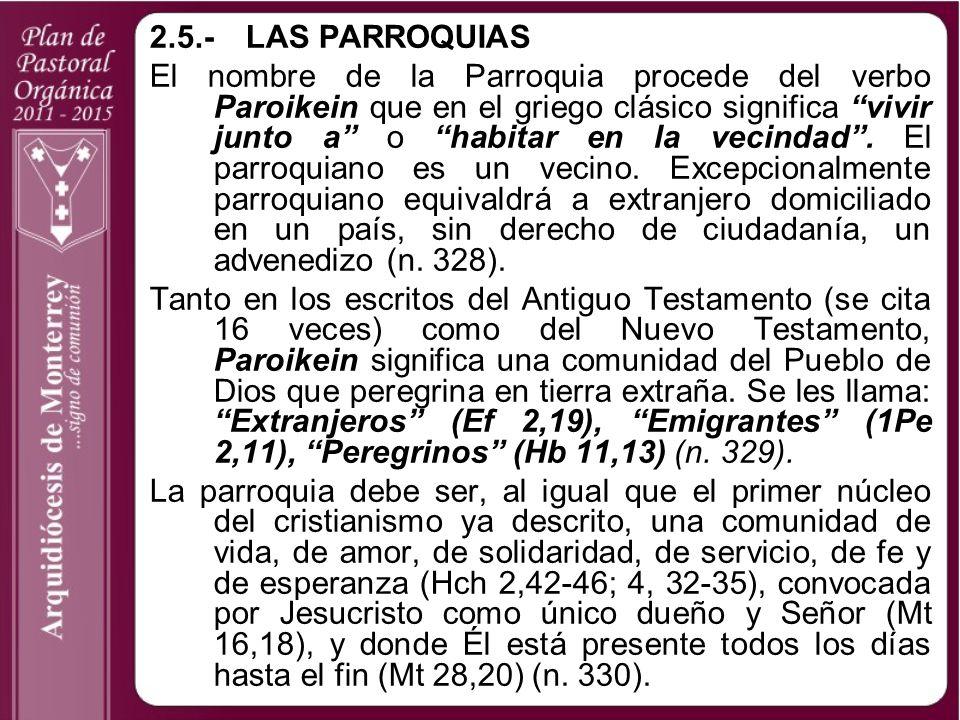 2.5.- LAS PARROQUIAS