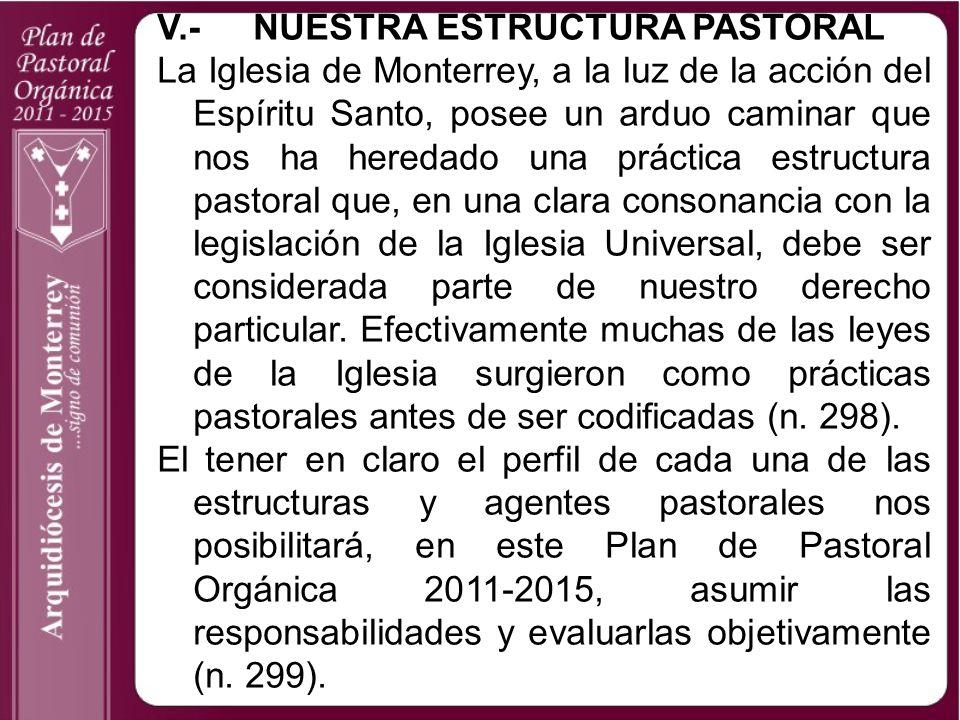 V.- NUESTRA ESTRUCTURA PASTORAL