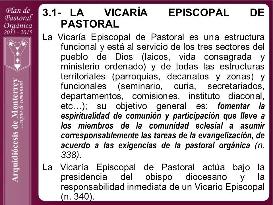 3.1- LA VICARÍA EPISCOPAL DE PASTORAL