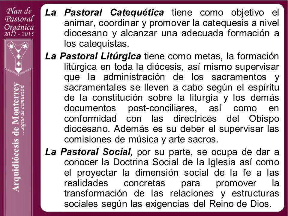 La Pastoral Catequética tiene como objetivo el animar, coordinar y promover la catequesis a nivel diocesano y alcanzar una adecuada formación a los catequistas.