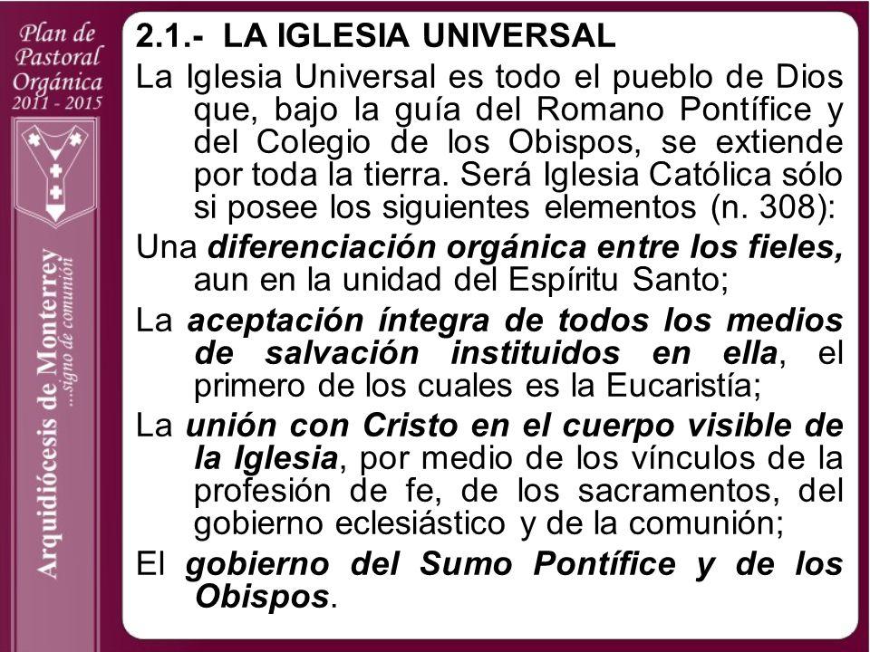 2.1.- LA IGLESIA UNIVERSAL