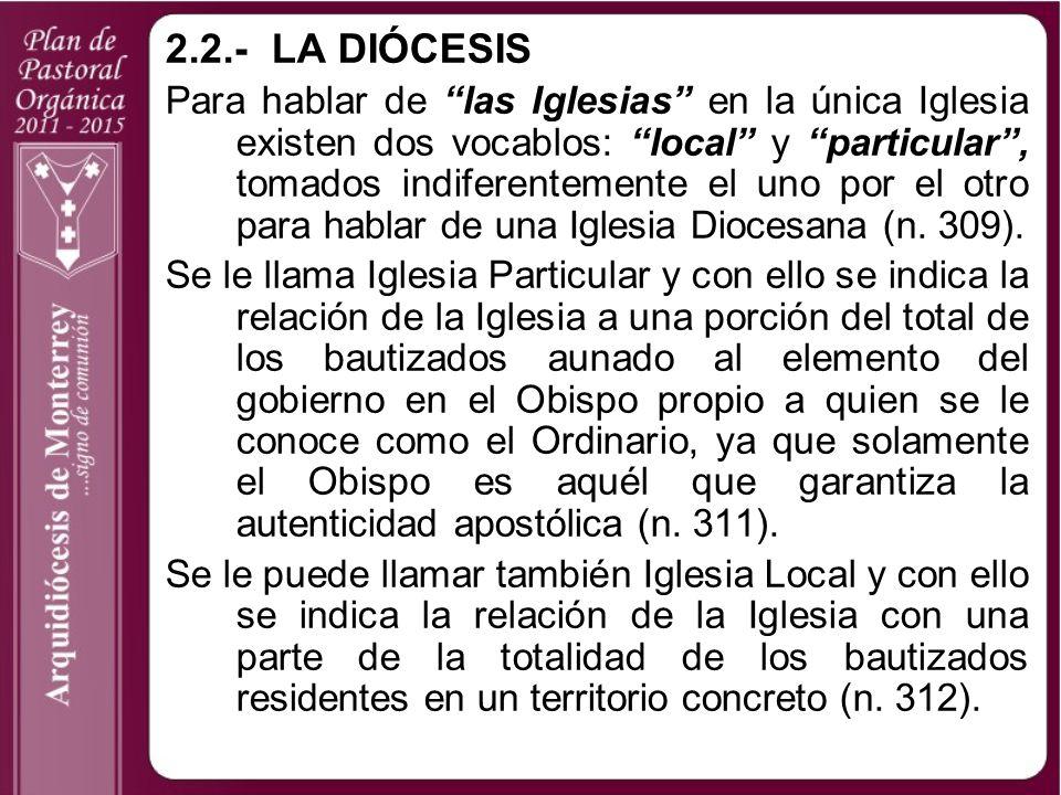 2.2.- LA DIÓCESIS