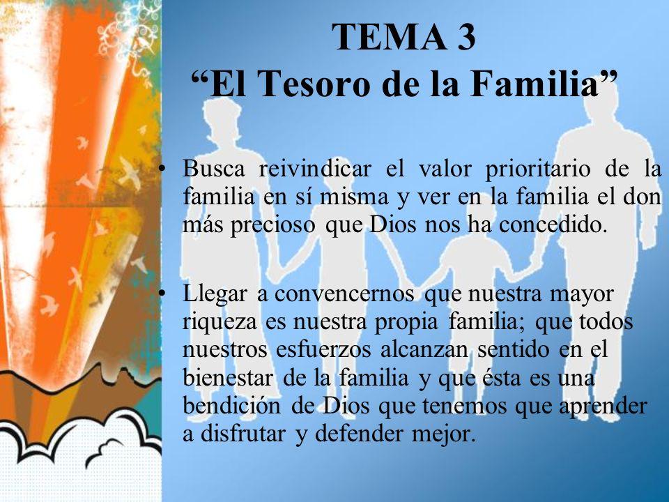 TEMA 3 El Tesoro de la Familia