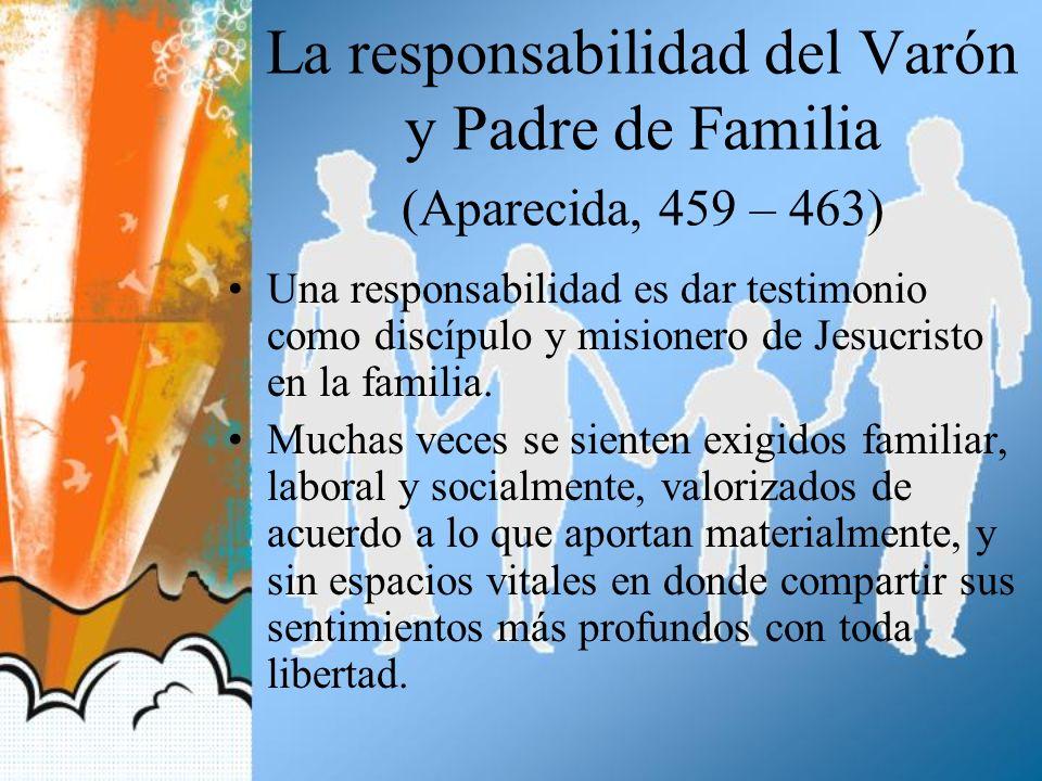 La responsabilidad del Varón y Padre de Familia (Aparecida, 459 – 463)